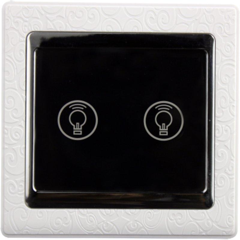 采取固定安装方式安装,手动触摸控制,适用于卧室固定双控,楼梯间上