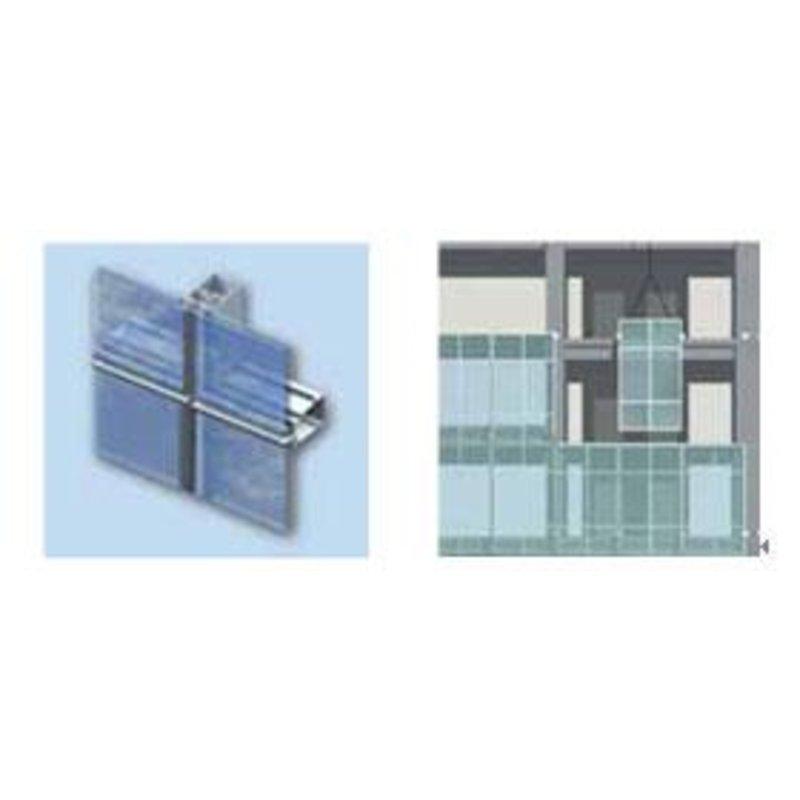 单元板块之间采用结构密封形式