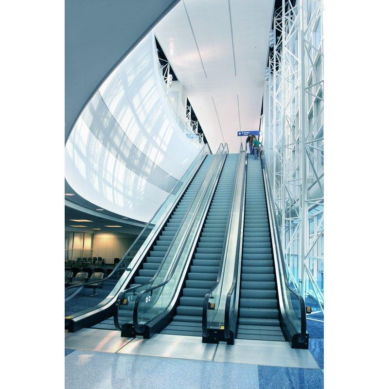 自动扶梯系列及自动人行道采用带导向凸边型材导轨
