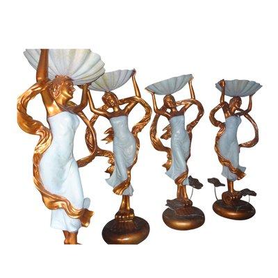 供应欧式花钵少女景观雕塑