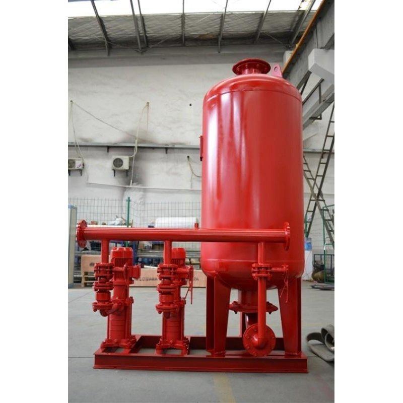 这样周而复始,通过电接点压力表和电控箱控制水泵运行,达到额定的压力