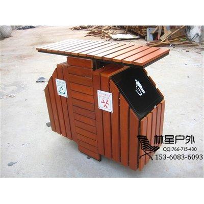 木质垃圾桶小品材质