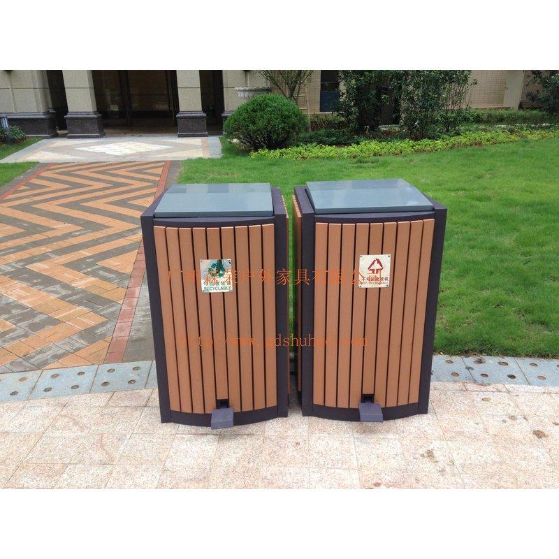 供应塑木垃圾桶,环保木垃圾桶